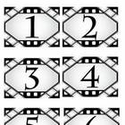 Hollywood Classroom Theme Calendar Pieces - Back to School