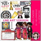 Hollywood LINE ART bundle by melonheadz