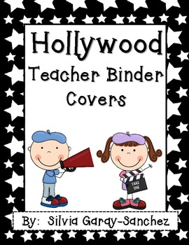 "Hollywood Teacher Binder Covers and 2"" Spines"