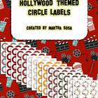 {Hollywood-Theme Circle Labels} 2.5 Inch Circles in 6 Patterns