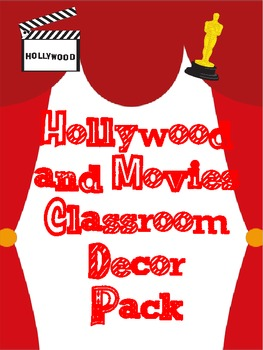 Hollywood Theme Classroom Decor Pack Movie Theme