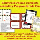 Hollywood Theme Grade Four CCSS Complete Vocabulary Program