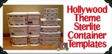 Hollywood Theme Sterlite Container Templates