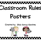 Hollywood Themed Classroom Rules Mini Posters