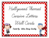 Hollywood Themed Cursive Wall Cards