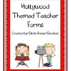 Hollywood Themed Teacher Forms