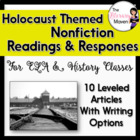 Holocaust Themed Nonfiction Homework Readings & Responses