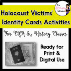 Holocaust Victims Identity Card Activities - Common Core Aligned