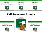 Fall Semester Deluxe Bundle (Holt Algebra Chapters 1-5) -