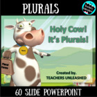 Holy Cow! It's Plurals! Guided Practice, Test Prep, and Co