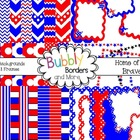 Home of the Brave!~ Chevron, Polka Dots & Striped Backgrou