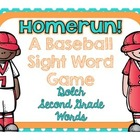 Homerun! A Baseball Sight Word Game {Dolch Second Grade Words}