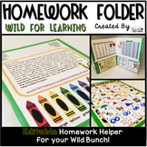 Homework Folder - Jungle Safari Theme {Wild for Learning}