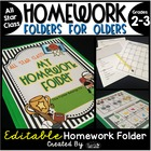 Homework Folder for Olders - All Star Class {Sports Theme}