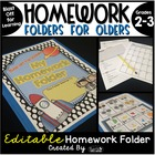Homework Folder for Olders - Blast Off For Learning {Space Theme}