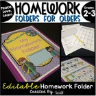 Homework Folder for Olders - Peace, Love, Learn! {Peace Theme}