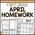 Homework Packet {April 2014 | First Grade}