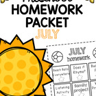 Homework Packet- July