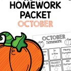 Homework Packet- October