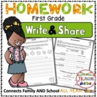 Homework Packet for First Grade: Write & Share {Common Cor