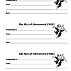 Homework Pass Printable Coupon
