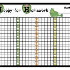 Homework Poster Reward Chart