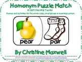Homonym Puzzle Match-30 Matches