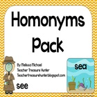 Homonyms Pack - Game, posters, bulletin board, worksheets