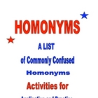 Homonyms packet with activities