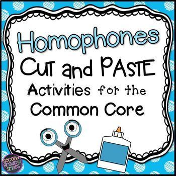 Homophones: Cut and Paste Activities