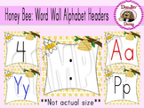 Honey Bee: Word Wall Alphabet Headers