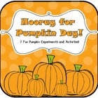 Hooray for Pumpkin Day! {Science Experiment & Math Activities}