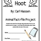 """Hoot"", by Carl Hiassen, Animal Fact-File Project Pages"
