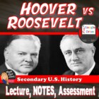Hoover v FDR Comparison Lecture Power Point (U.S. History)