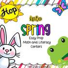 Hop Into Spring-Easy Prep Math and Literacy Games