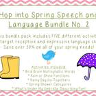 Hop into Spring Speech and Language Bundle No. 2