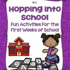 Hopping Into School: Fun Activities for the 1st Week of School