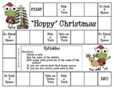 """Hoppy"" Christmas Game--Syllables"