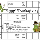 """Hoppy"" Thanksgiving Game--Syllables"