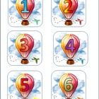 Hot Air Balloon Calendar Numbers