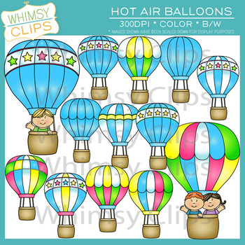 Hot Air Balloons Clip Art