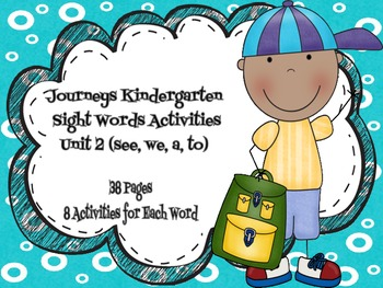 Houghton Mifflin Journeys 2011 & 2014 Kindergarten Sight W