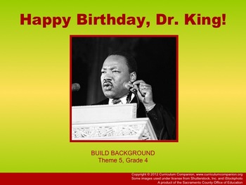 Houghton Mifflin Reading, Grade 4, Happy Birthday Dr. King