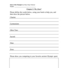 Hour of the Olympics Worksheets (Magic Tree House #16) *Wi