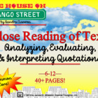 House on Mango Street Close Reading of Quotes