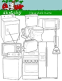 Household Items Clipart / Graphics 300dpi White and Transparent