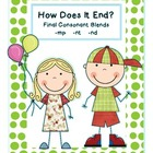 How Does It End: Final Consonant Blends -mp, -nt, -nd