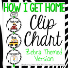 How I Get Home Transportation Clip Chart- Zebra & Safari Theme
