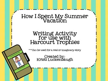 How I Spent My Summer Vacation- Suitcase Writing Activity