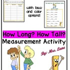 How Long? How Tall? A Measurement Activity! (Convert feet